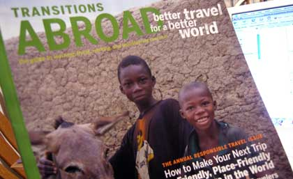 Transitions Abroad Nov 06 cover